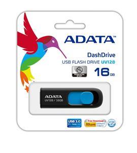 ADATA DashDrive UV128 USB 3.0 Flash Memory 16GB
